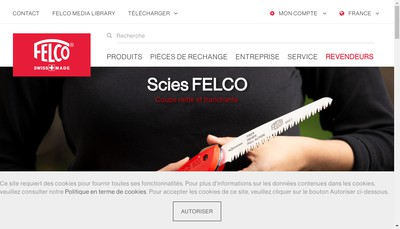 Site internet de Felco France
