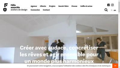 Site internet de Felix & Associes - Ateliers de Design
