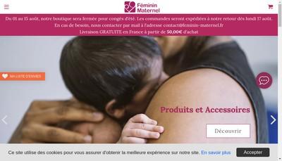 Site internet de Feminin Maternel