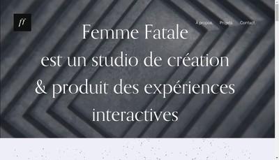 Site internet de Femme Fatale Studio