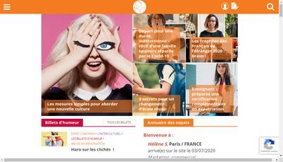 Site internet de Femme Expat Communication