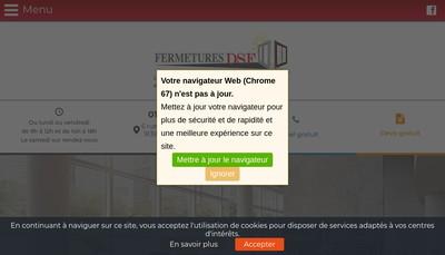 Site internet de Fermetures Dsf
