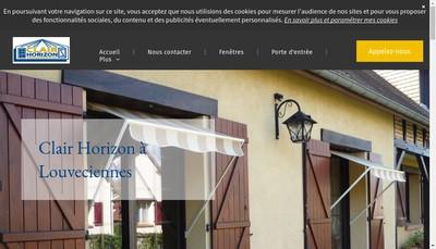 Site internet de Clair Horizon Installation de Fermetures de Batiments