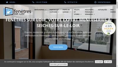 Site internet de Fenetres sur Loir