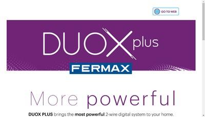 Site internet de Fermax France