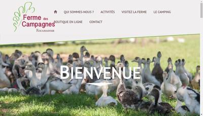 Site internet de Ferme des Campagnes