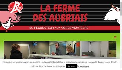 Site internet de La Ferme des Aubriais