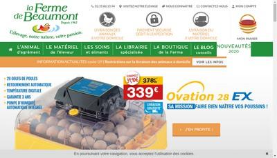 Site internet de SARL la Ferme de Beaumont