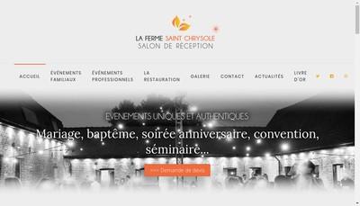 Site internet de La Ferme Saint Chrysole