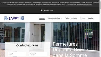 Site internet de Fermetures Dupont