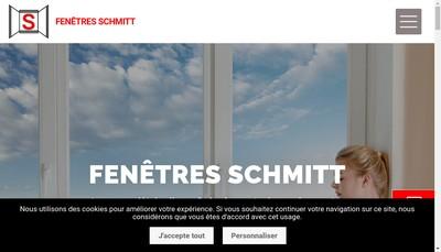 Site internet de Fenetres Schmitt