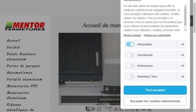 Site internet de Mentor Fermetures