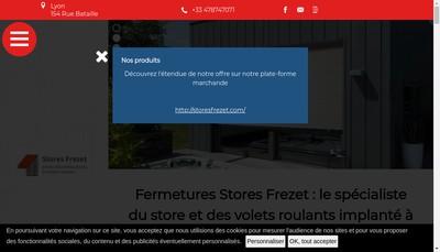 Site internet de Fermetures et Stores Frezet
