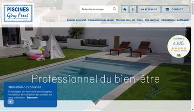 Site internet de Ferre Piscines