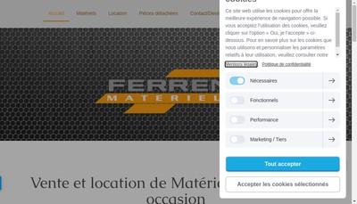 Site internet de Ferren Materiels