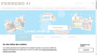 Site internet de Ferrero