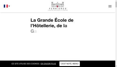 Site internet de Ferrieres l'Ecole de l'Excellence a la Francaise