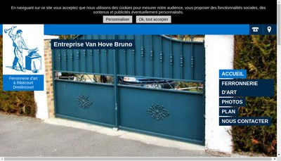 Site internet de Societe Van-Hove Bruno