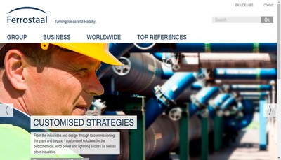 Site internet de Ferrostaal Equipment Solutions France