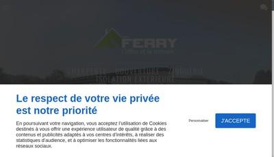 Site internet de SARL Ferry Charpente Couvert
