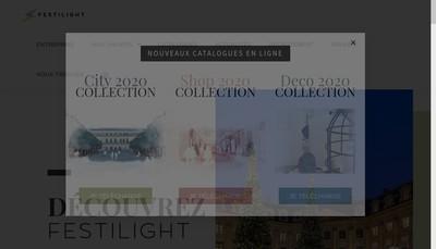 Site internet de Festilight