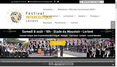 Site internet de Festival Interceltique de Lorient