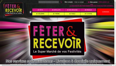 Site internet de Festivy - Feter &Recevoir
