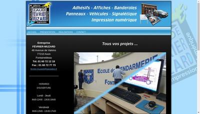 Site internet de EURL Fevrier Muzard