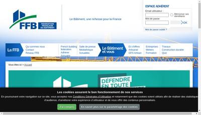 Site internet de Federation Francaise du Batiment