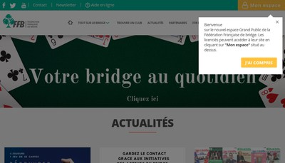 Site internet de Federation Francaise de Bridge