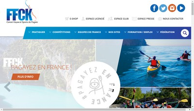 Site internet de Federation Franc Canoe Kayak