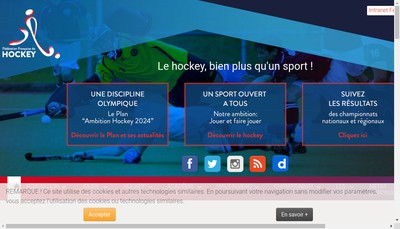 Site internet de Federation Francaise Hockey sur Gazon