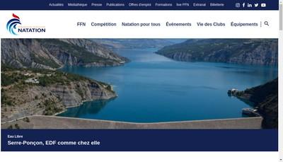 Site internet de Federation Francaise de Natation