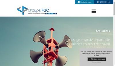 Site internet de Groupe Fgc