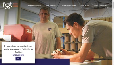 Site internet de Fabrication Graphique et Technique Fgt