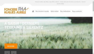 Site internet de Fonciere Hugues Aurele