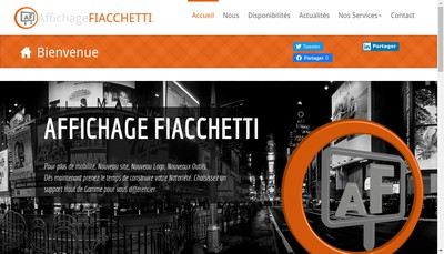 Site internet de Affichage Fiacchetti