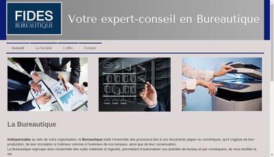 Site internet de Fides Bureautique