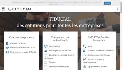 Site internet de Fiducial Conseil en Abrege Financial