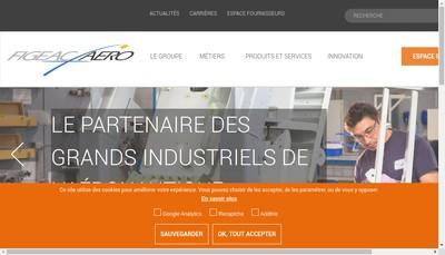 Site internet de Figeac Aero Auxerre