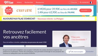 Site internet de Filae