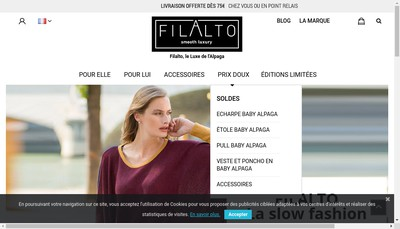 Site internet de Red And More-Rednmore-Filalto Paris