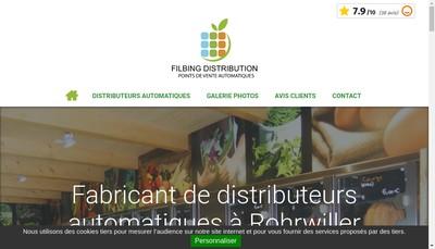 Site internet de Filbing Distribution