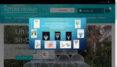 Site internet de Auterie Devaud SA