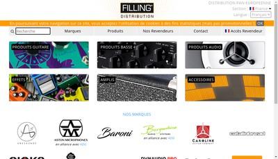 Site internet de Filling Distribution