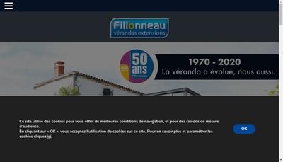 Site internet de Fillonneau Verandas