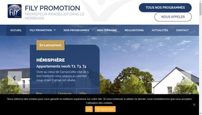 Site internet de Fily Promotion