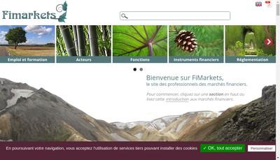 Site internet de Fimarkets