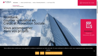 Site internet de Finabank Consulting Group