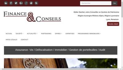 Site internet de Finance et Conseils